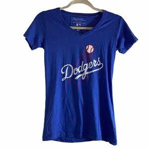 Dodgers Baseball V-Neck Short SleeveT-Shirt Size:M